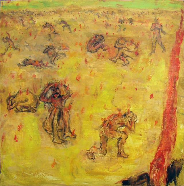 Les violents contre nature Chant XVI 7° Cercle 3ème donjon 60x60